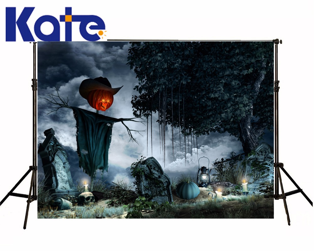 KATE Photocall Halloween Backdrop 5X7Ft Cartoon Forest Background Cloud Backdrop Blue Boy Backgrounds For Photo Studio<br>