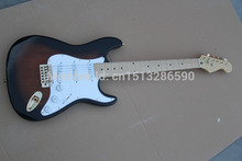 . Free shipping Top Quality stratocaster custom body 6 string made in usa guitar Gold Hardware Electric Guitar