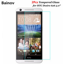 Bainov 2Pcs/Lot 9H Tempered Glass  For HTC Desire 626 Dual Sim Screen Protector Protective Film on 626s D626W D626n 626G+ 4G Lte