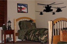 Pattern Helicopter Army Boys Kids Room Wall Decal Decor Huge
