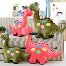 Dorimytrader Pop Cartoon Dinosaur Plush Toy 70cm Giant Stuffed Soft Animal Pillow Kids Play Doll Presents 28inches DY61649