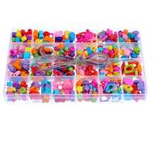 1Box Mixed Random Acrylic Beads Children DIY Beads Kit Spacer Beads Fit Jewelry Making Bracelet Necklace Accesssory 19x13cm(China)