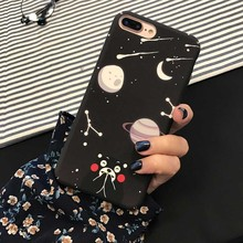 Cute Cartoon Animal Moon Night Hard PC phone Case For iPhone 7 7plus Fashion Starry sky Bear Cases For iphone 6 6s 6plus Cover