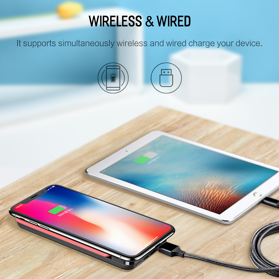 Portable Wireless Charging PowerBank
