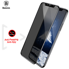 Buy Baseus Screen Protector iPhone X 10 Privacy Anti Peeping Tempered Glass 3D Anti-Glare Film iPhoneX IX Toughened Glass for $8.66 in AliExpress store