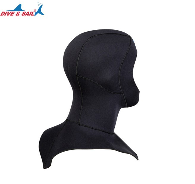 DIVE&SAIL 3mm neoprene diving cap snorkeling swimming hat hood neck cover winter swim keep warm scuba surfing face mask black0027897897