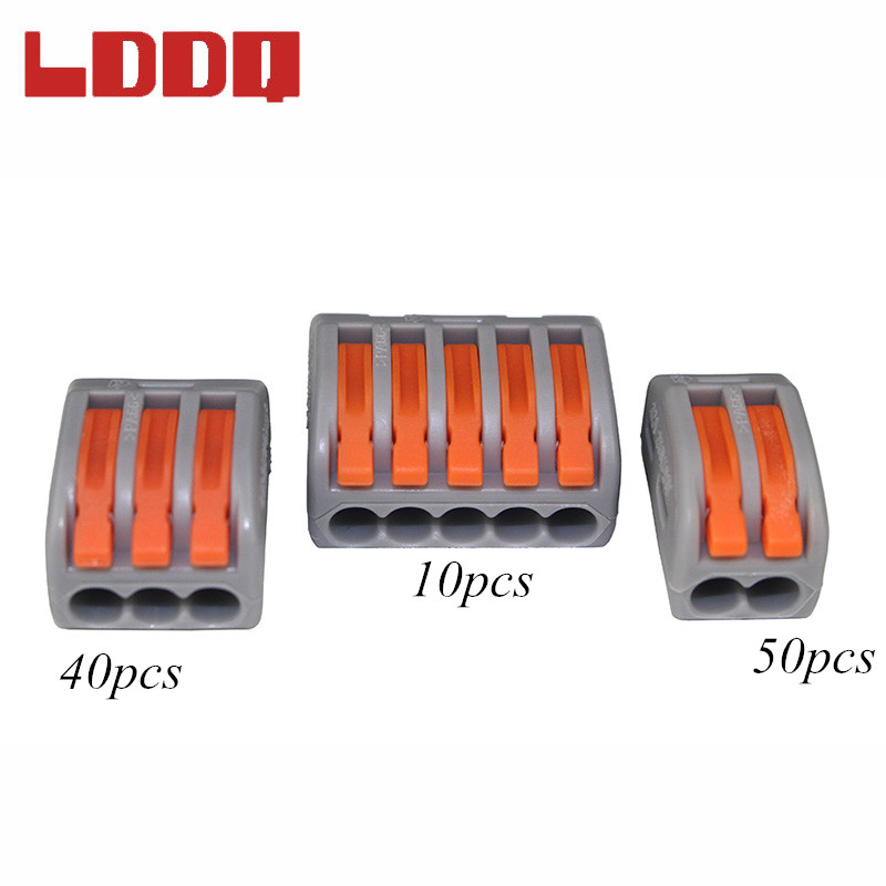 LDDQ Connector 100pcs Universal Compact Wire Connector Conductor Terminal Block PCT212 213 215 Cable Connector High Quality<br>