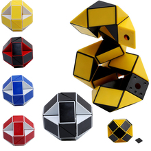 Newest Funny Professional Speed Magic Snake Shape Toys Game Twist Cube Puzzle Toys Gift For Kids 6 Colors JK896283(China)
