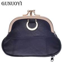 GUNUOYI Hot Women Genuine Leather Coin Purse Women Coin Wallet Mini Purse Charge Wallet Key Packet Hand Bag LQ9381