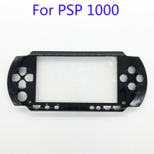 10Pcs Black Front Face Plate Faceplate Shell Case Cover Replacement For Sony PSP 1000 1001 Fat(China)