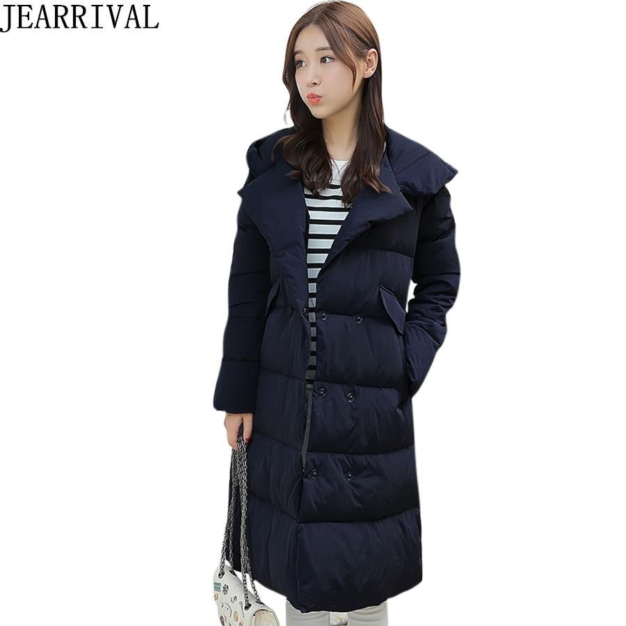 2017 New Fashion Winter Jacket Women Thicken Parkas Loose Cotton Padded Long Sleeve Hooded Warm Long Outwear Casaco FemininoÎäåæäà è àêñåññóàðû<br><br>
