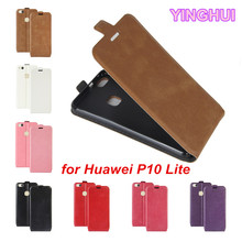 YINGHUI Huawei P10 Lite Case Vertical Flip Cover PU Leather Case for Huawei P10 Lite Cover Phone Bag with Photo Frame Card Slot(China)