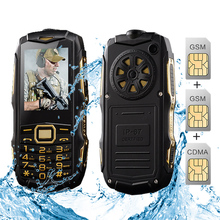 Original YSFEN Y809 Y809A Cell Phone Three SIM Cards 8800mAh GSM CDMA IP67 waterproof flashlight power bank rugged mobile phone(China)