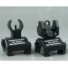 Troy micro Metal sight Front and Rear Folding Battle sight hunting accessories(China)