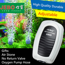 JEBO Ultra Silent Aquarium Air Pump Air Compressor Oxygen Airpump Single & Double Outlet 220-240V Adjustable Air Volume Fish(China)