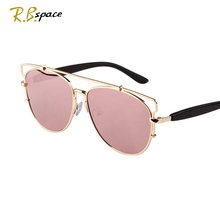 R.B.space 2015 hot style Sunglasses Oval big Lenses frog mirror Polarization UV400 Luxury retro women's sunglasses Unisex(China)