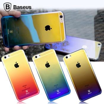 Baseus Original Hard Back PC Case For iPhone 6 6s Luxury Gradient Color Transparent Cases For Apple iPhone 6s Plus Coque Cover