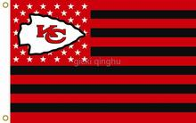 Kansas City Chiefs NFL Premium Team Football Flag Black And Red Hot Sell Goods 3X5FT 150X90CM ,Custom flag,free shipping(China)