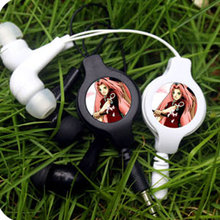 MLLSE Anime Naruto Haruno Sakura Portable Earphone Retractable Wired Stereo In-ear Earbuds Earphones Game Headset For Smartphone