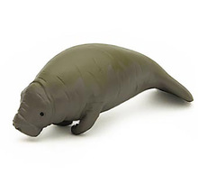 Original Japan genuine Animal Model West Indian manatee Collectible Figurine Figure Toy Kids Gift Educational Toy