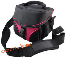 pink Camera Bag DV Case For  Nikon Sony Canon Olympus JVC SAMSUNG