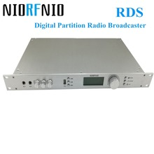Free Shipping RDS Digital Partition Standing Wave Protect Function NIO-T50R FM PLL Transmitter for Radio Broadcaster