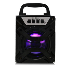 Redmaine MS - 304BT Portable Bluetooth Speaker with LED Lights 3 inch Driver Unit FM Radio(China)