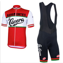 New Men of La Casera / Bahamontes complete sets summer cycling jersey Cycling wear cycling clothing Cycle 3D gel pad mtb road(China)