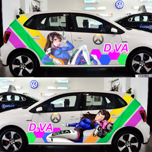 DIY 3D Car Decals ACG Drift Sticker OverWatch Game Stickers D.VA Car Door Stickers Paint Racing Decal Auto Body Camouflage Vinyl