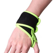 Wrist Thumb Brace Support Protector Wrap Band Elastic black & green Mini Portable Elastic Wrap Strap Wrist Brace Support