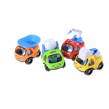 Cartoon Inertia Toy Car Pull Back Sand Tools Truck Beach Toy For Kids Playing Vehicles Children Model Gift Funny Mini