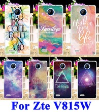 Hard Plastic Phone Cases For ZTE Blade Buzz V815W 4.5 inch V 815W V815 815 W Protection Shell Cover Star Sky Painted Pattern