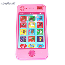 Abbyfrank Russian Language Educational Kids Phone Toys Puzzle Learning Machine Telephone  Christmas Gift For Children Brinquedo