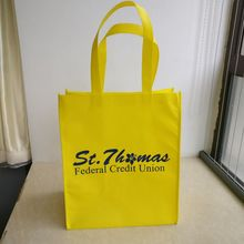 1000pcs/lot Promotional Customized Logo Printing reusable pp shopping bags, non woven tnt shopping bags(China)