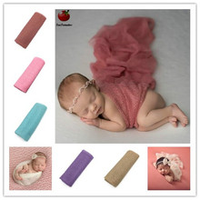 Baby Newborn Photography Props Baby Costume Outfit Cotton Photos Wrap Girls Baby Photo Props Wrap bebe Fotografia Kids Hammock(China)