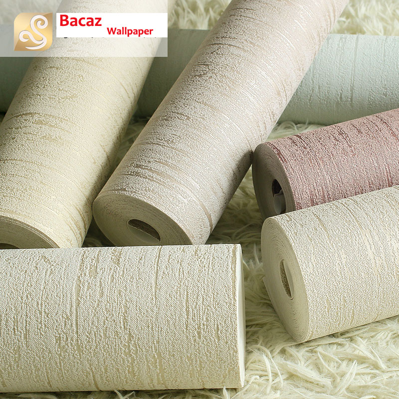 Vinyl Texture Solid Color Wallpaper Rolls for Living Room Bedroom 3d Wall paper Roll<br>