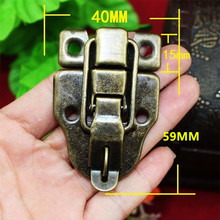 Vintage Lock Antique Metal Jewelry Chest Box Gift Box Suitcase Case Buckles Toggle Hasp Latch Catch Clasp Furniture Hardware(China)