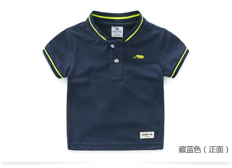 Boys Clothes 2018 Hot Summer Novelty Cotton Cartoon Elephant Print Short Sleeve Mandarin Collar T Shirt Kids Boys (8)