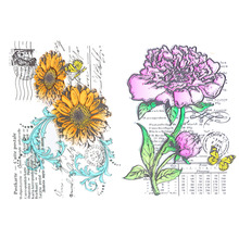 CCINEE 15cm x18cm Clear Transparent Stamp Flower Style For DIY Scrapbooking/Card Making/ Decoration Supplies(China)