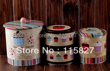 Free Shipping! 3pcs/lot Jumbo Choco-chip Design Cookie Jar Candy Can Creative Storage Box Home Storage Hot Selling!