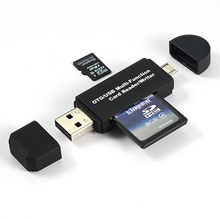 Universal Card Reader phone PC USB Card Reader Micro USB Flash OTG TF / SD memory 3 In 1 Dual For phone Computer