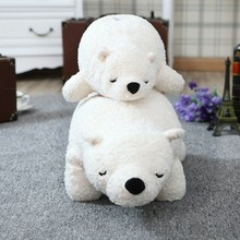Cute 1pcs 45cm/70cm Polar Bear Super Soft Pillow PP Cotton Stuffed Plush Toy Lovely White Bears Comfortable Kids Toys Gifts