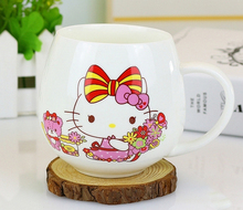 Cartoon Hello Kitty Doraemon Home Office Garden 300ML Ceramic Coffee Milk Tea Mug Cup