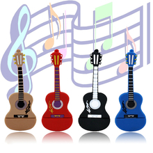 Pendrive 128GB guitar USB Flash Drive Memory Stick/thumb 4g 8g 16g 32g 64g musicial flash Pendrive key/tiny U Disk