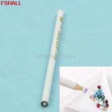 5pcs/lot Nail Art Rhinestones Gems Picking Crystal Tool Wax Pencil Pen Picker #H027#