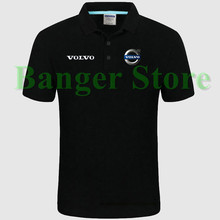 Volvo logo Polo shirt 4S shop short sleeved polo shirt overalls women and mens