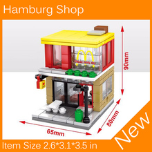 2017 New Mini Street View Building Block Hamburg Shop Compatible With Legoes City Toys