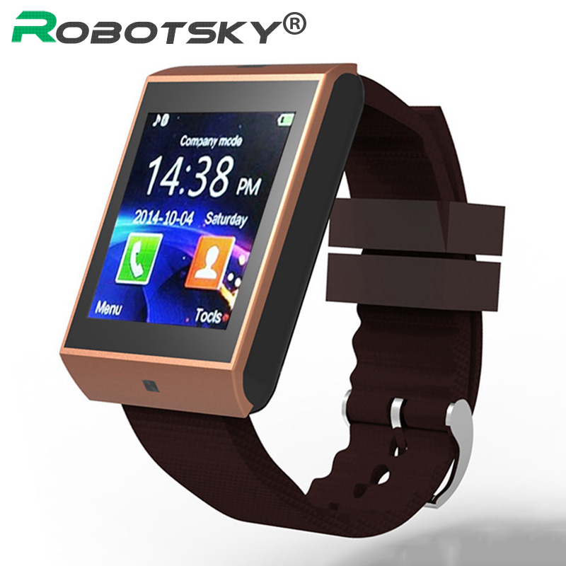 Bluetooth 3.0 Support Micro SIM card Smart Watch iphone Android Sport Watches Wrist Clock Sync Notifier Smartwatch