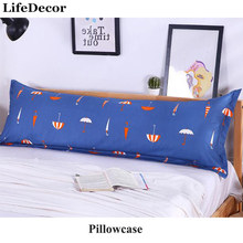 Polyester Cotton Double Pillowcase 1.2/1.5/1.8m Couple Long Pillow Covers Lover Married Pillow Crown(China)