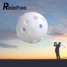 Relefree 5 Pcs /Lot Hollow Plastic Golf Ball Indoor Outdoor Sports Trainer Swing Practicing Training